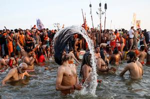 Meeting at India's holy rivers