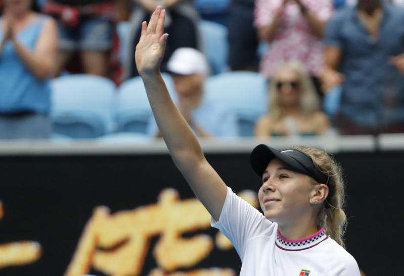 U.S. teen Anisimova announces arrival with Sabalenka upset