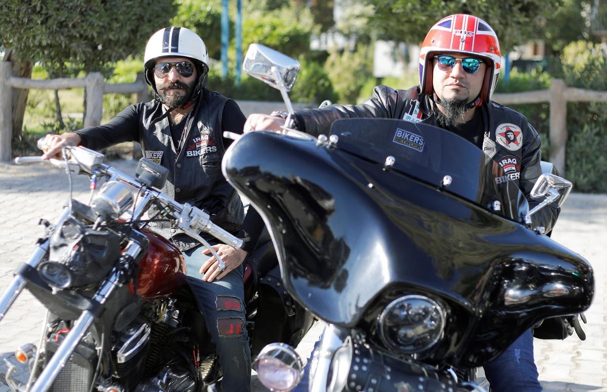 bikers iraq baghdad unite aiming politics please