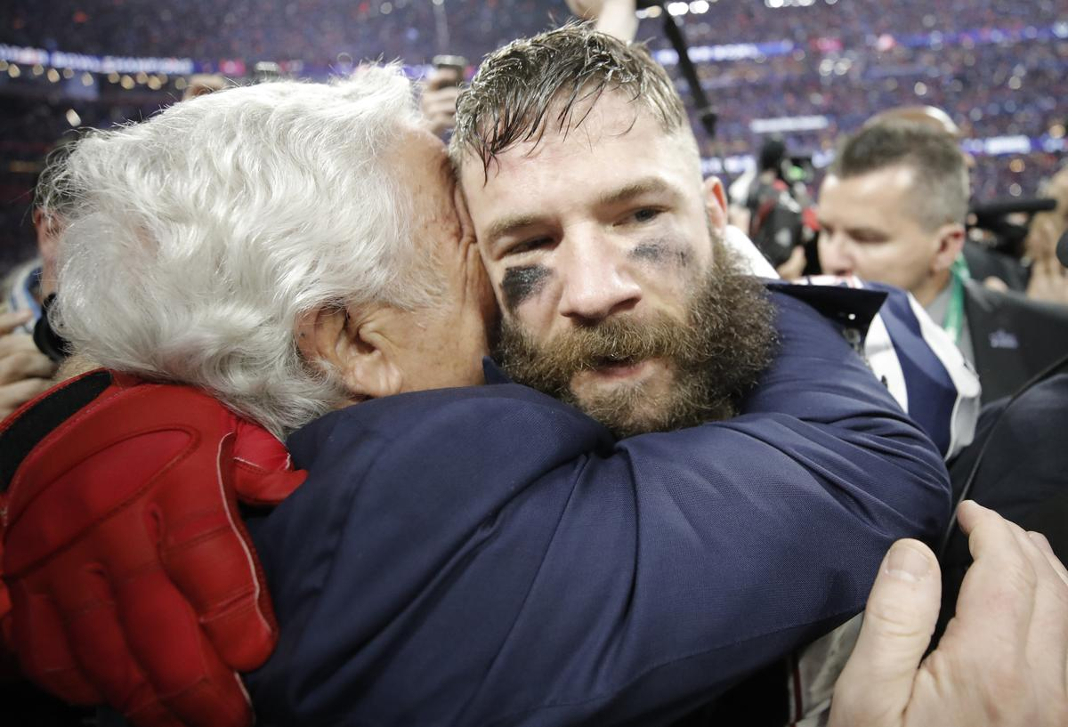 Patriots Edelman becomes unlikely Super Bowl MVP
