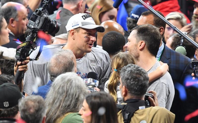 Pats' Gronk calls Super Bowl win his biggest, quiet on future