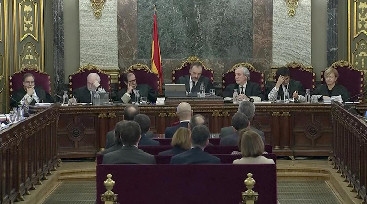 Spain's divisions laid bare as Catalan separatists go on trial