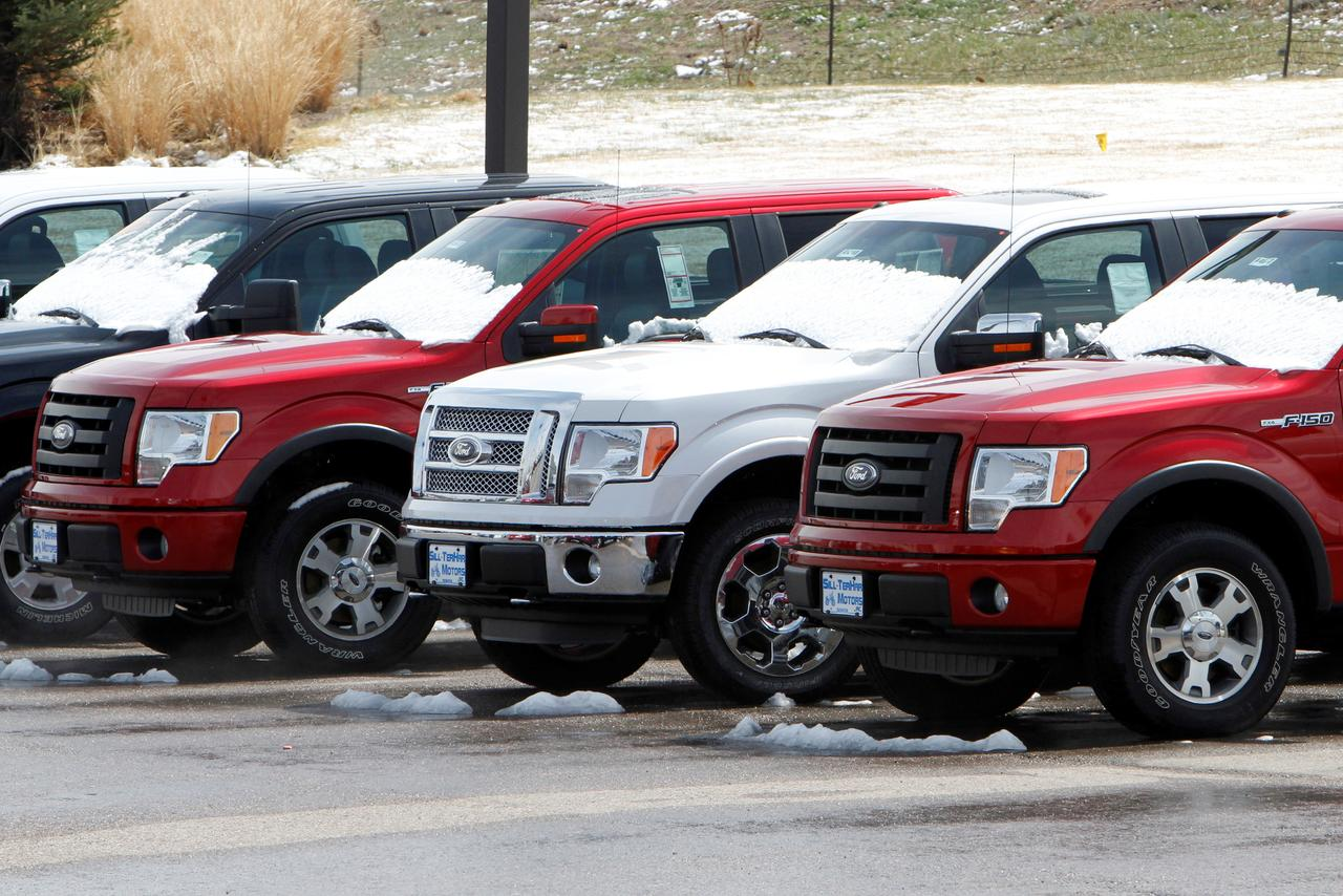 File Photo A Row Of New Ford F 150 Pickup Trucks Are Parked For At Dealer In The Denver Suburb Broomfield Colorado U S April 14 2017