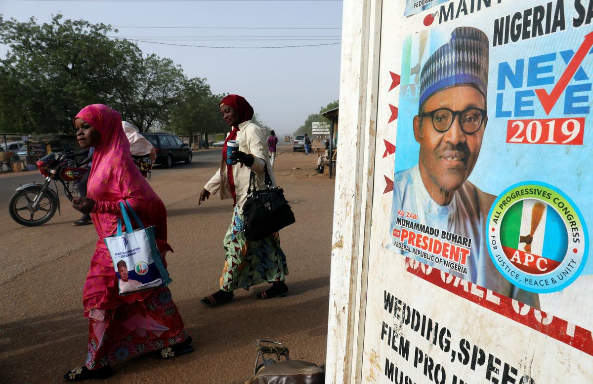 Nigeria's president appeals for calm after election delay