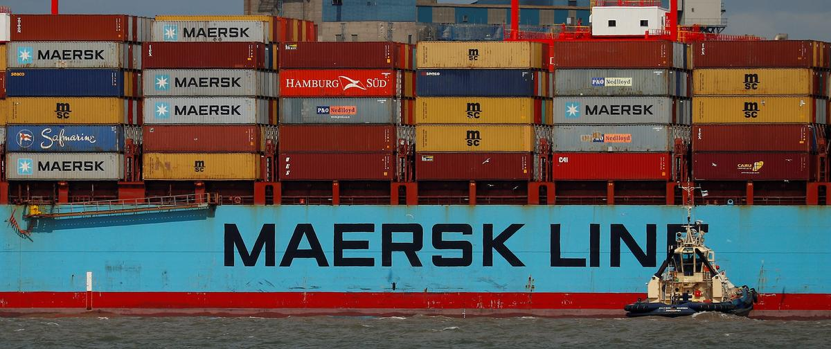 Maersk shares plummet on bleak outlook as trade war looms