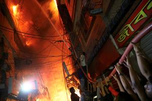 Deadly fire rips through Bangladesh neighborhood