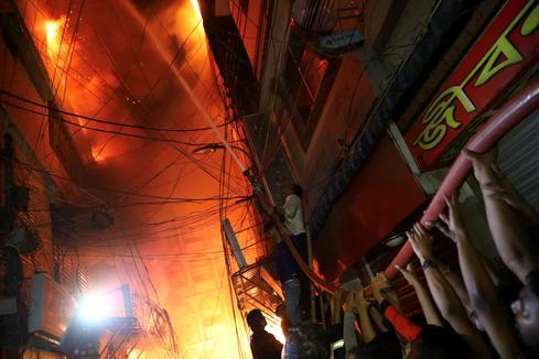 Deadly fire rips through Bangladesh neighborhood