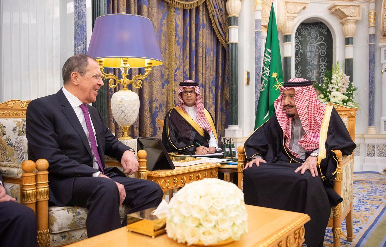 Image result for Saudi king meets Russian foreign minister in Riyadh