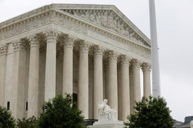 FILE PHOTO: The Supreme Court stands before decisions are released for the...