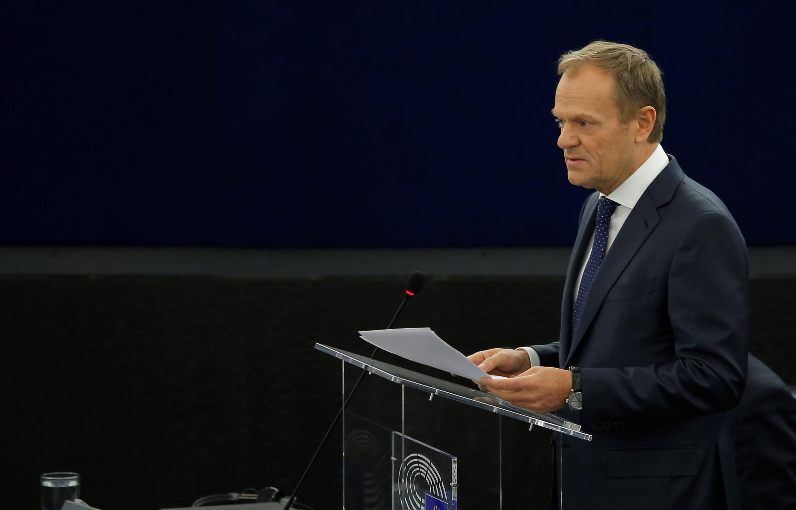 EU's Tusk calls for patience with Britain over Brexit