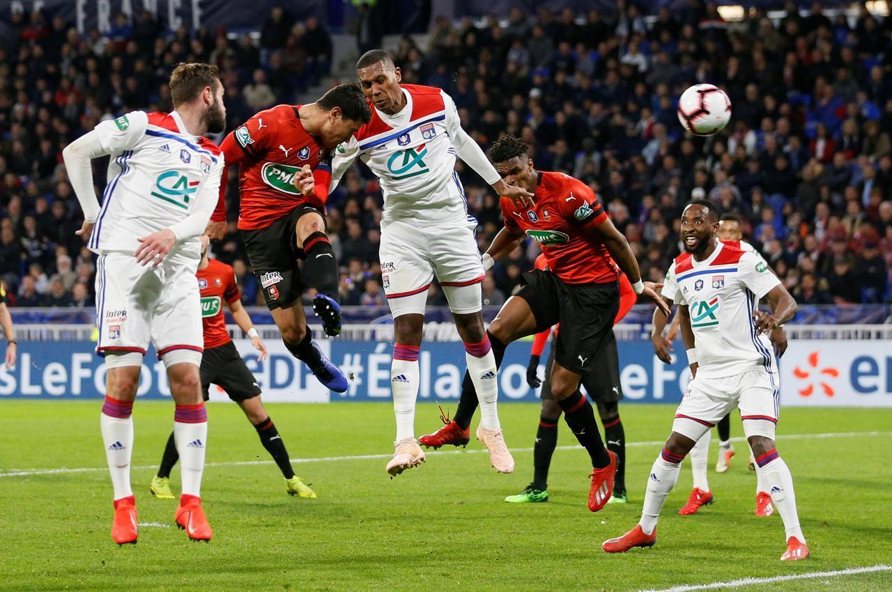 Image result for Rennes beat Lyon to reach French Cup final