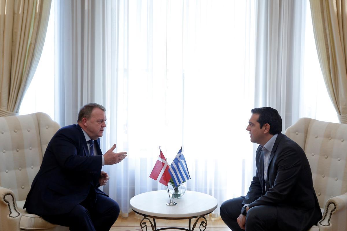Greek, Danish PMs urge Britain to break Brexit impasse