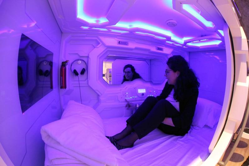 Image result for First hotel with sleeping capsules opens in Slovenian capital