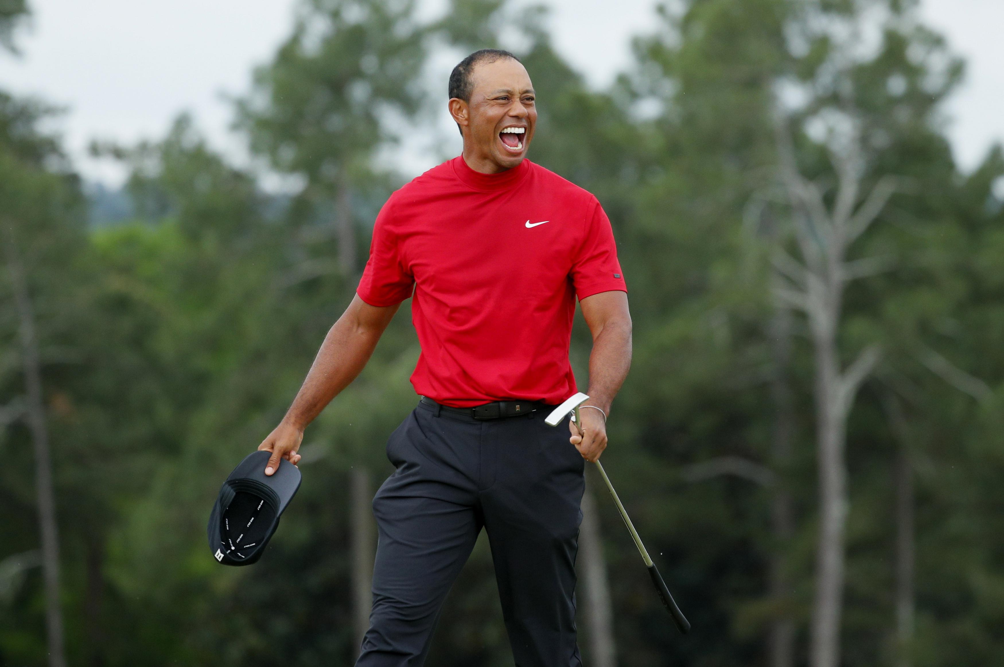 5966e0d3d56cf Tiger Woods' Masters win gives Nike investors another reason to ...