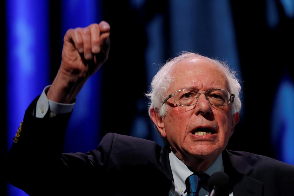 Sanders leads crowded 2020 Democrats field in total fundraising