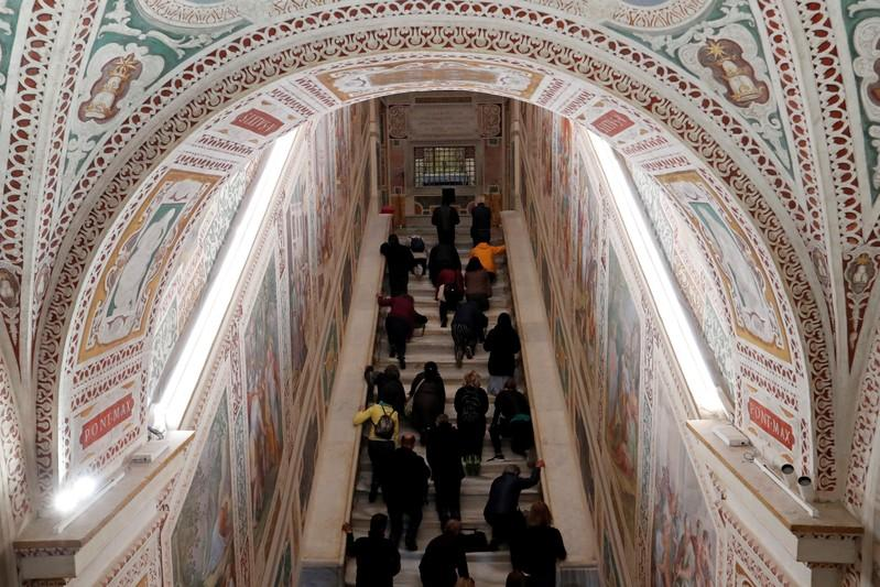 Rome's 'Holy Stairs' bared for first time in 300 years - Reuters