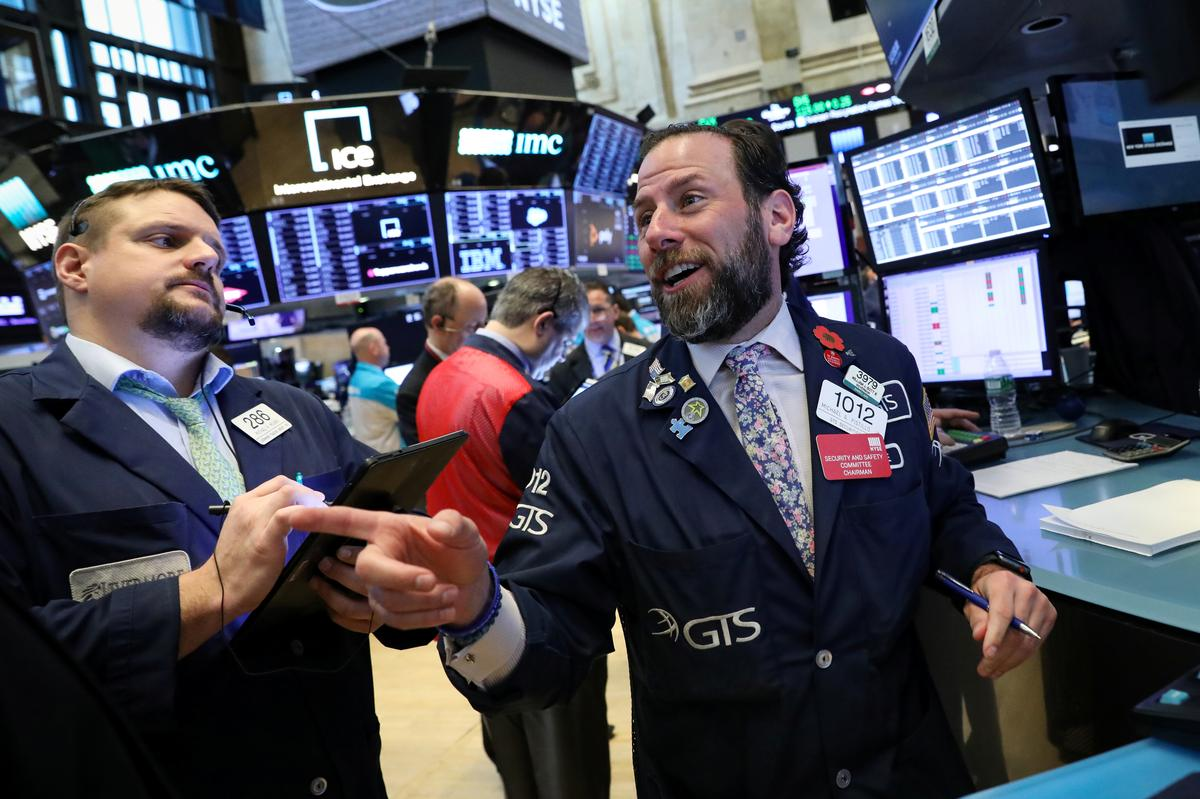 Wall Street flat as healthcare counters robust retail data, industrial boost