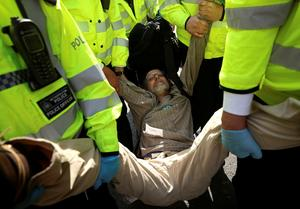 Hundreds arrested in London climate protests