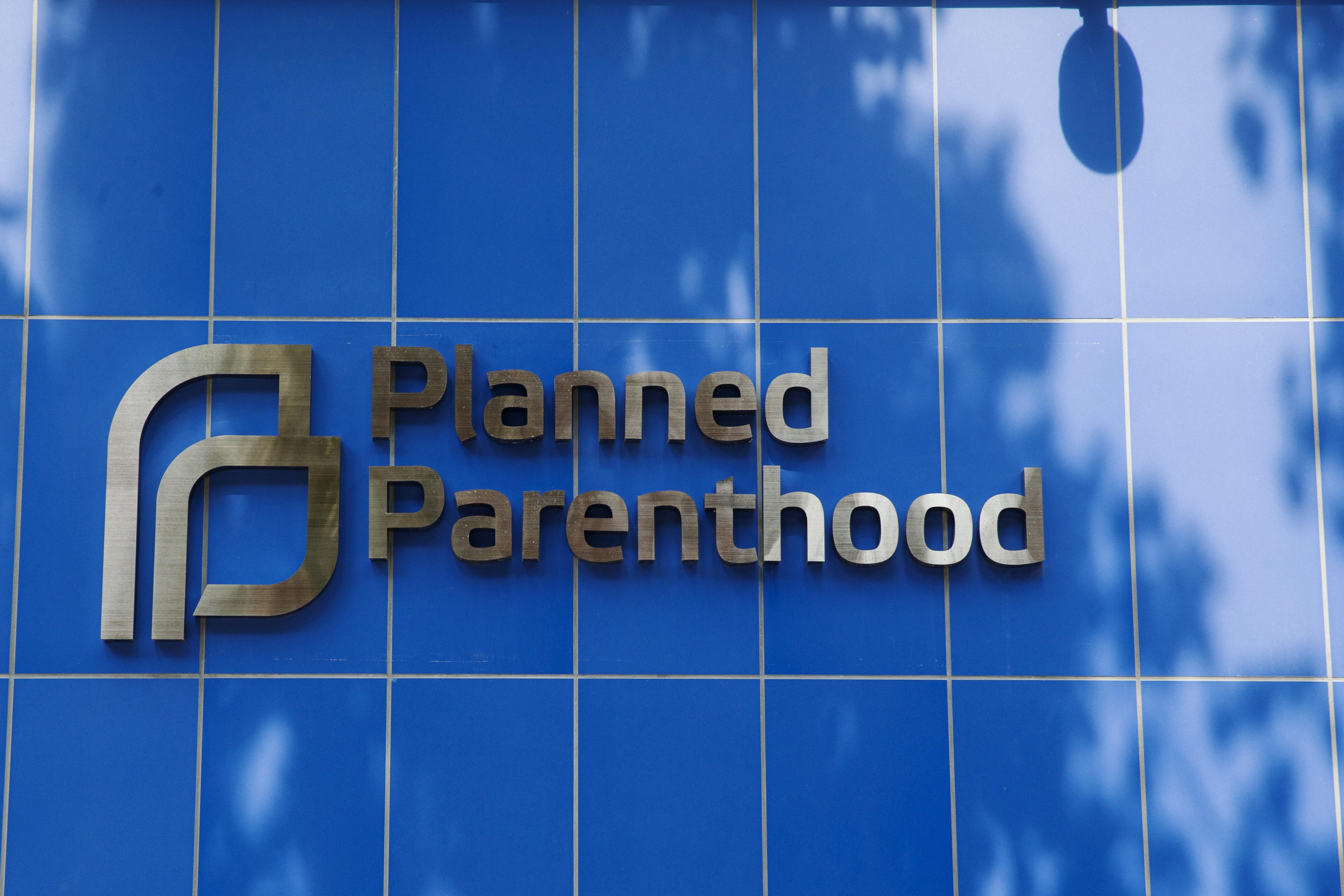 A sign is pictured at the entrance to a Planned Parenthood building in New York August 31, 2015. Picture taken August 31, 2015.   Lucas Jackson