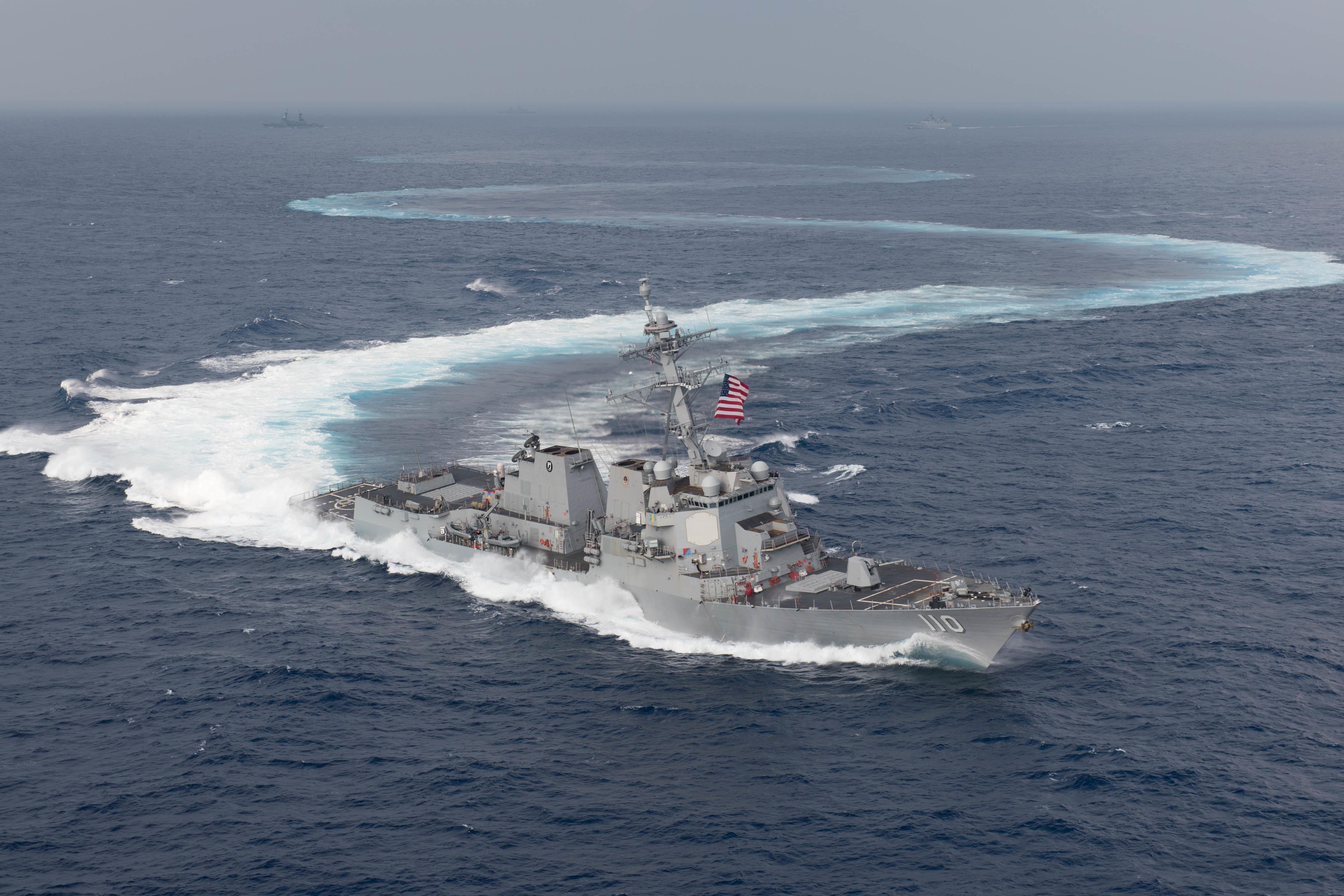 Two U S  Navy warships sail through strategic Taiwan Strait - Reuters