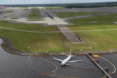 Plane slides off Florida runway