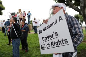 Uber drivers strike ahead of IPO