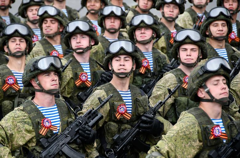 Russian servicemen march during the Victory Day parade in Vladivostok, Russia. REUTERS/Yuri Maltsev