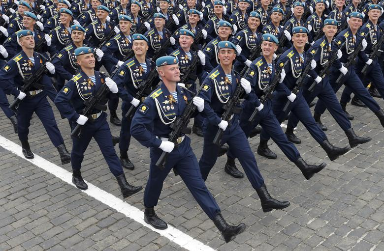 Russian servicemen march during the Victory Day parade in Red Square in central Moscow, Russia. REUTERS/Maxim Shemetov