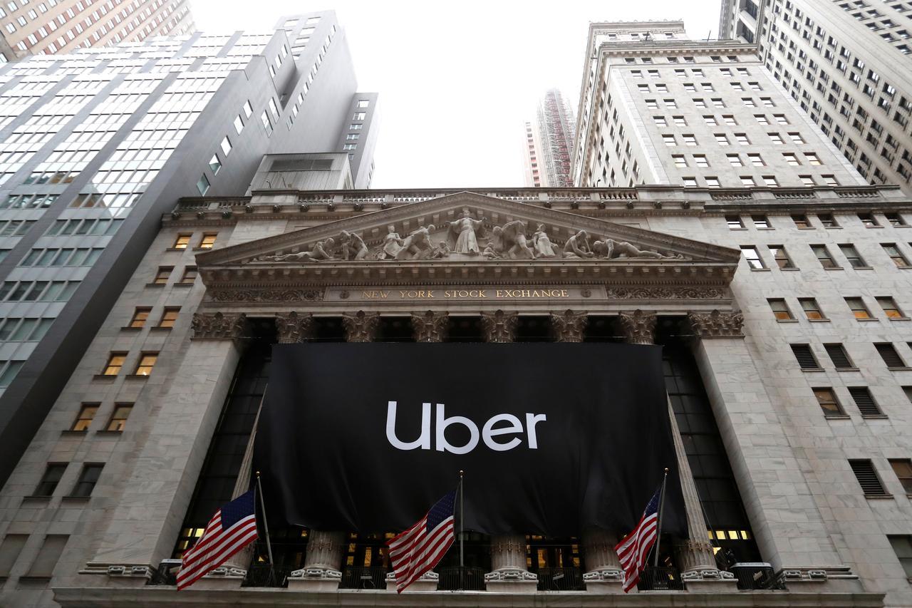 Uber at NYSE on 10th May 2019.
