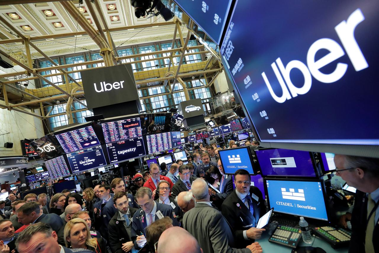 Uber starts trading at $42 a share, 6 7% below IPO price