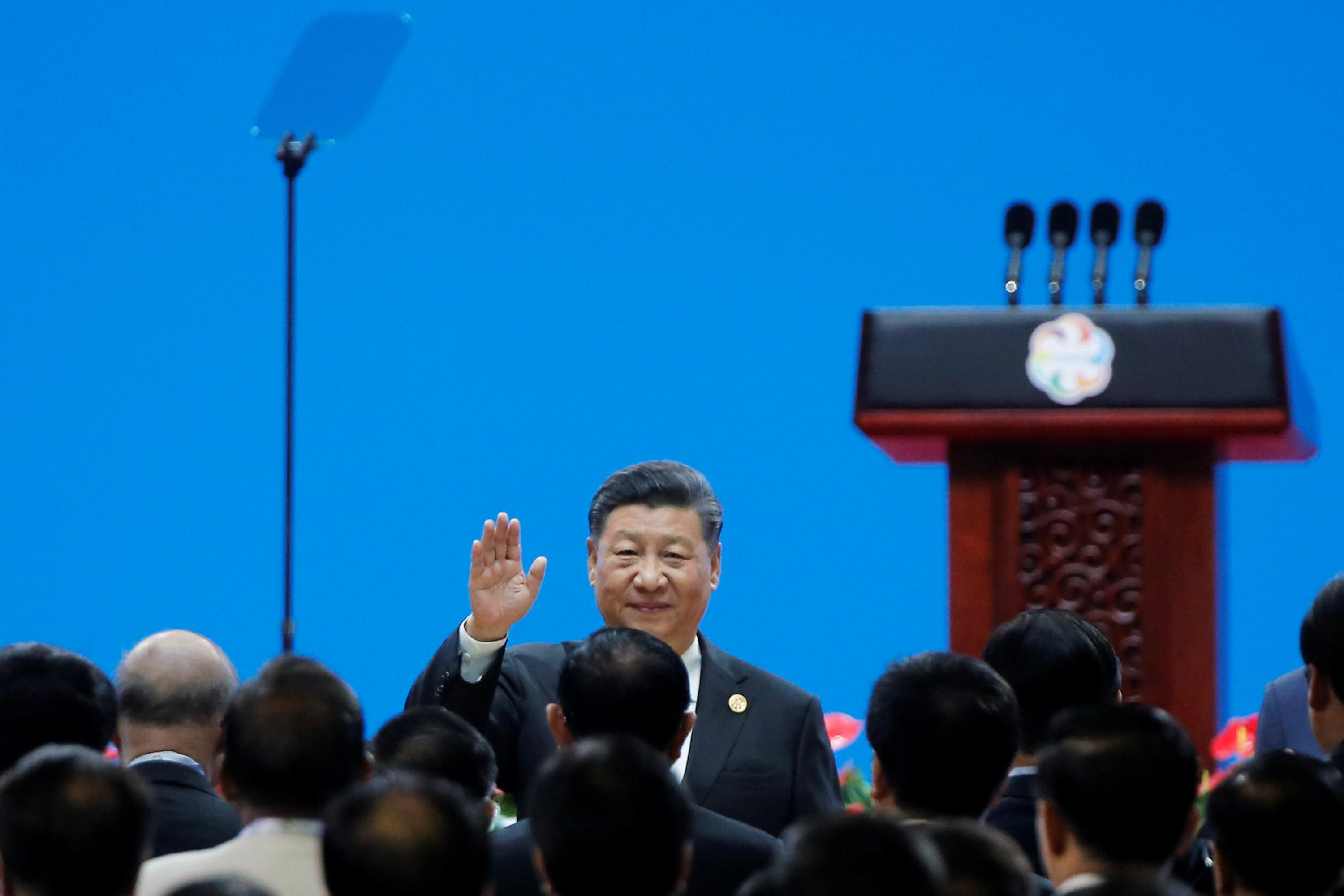 Image result for Amid trade war, China's Xi preaches openness, says no civilization superior