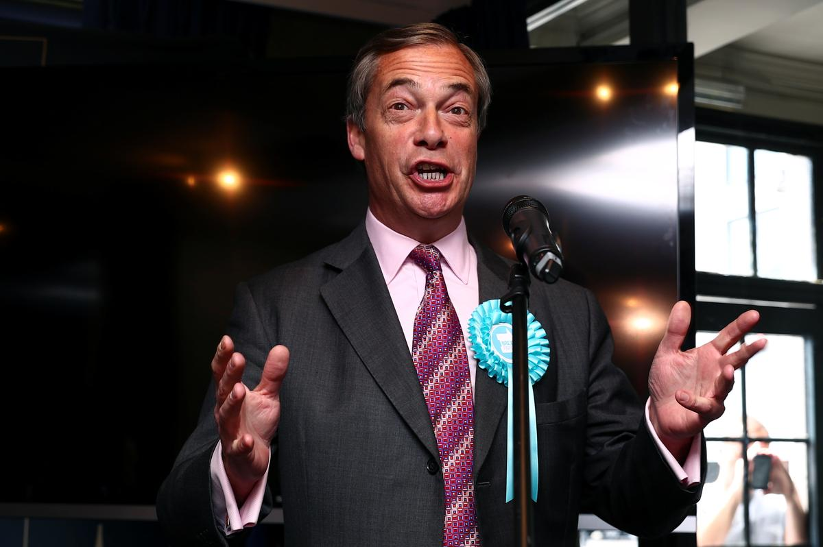 Brexit backlash? Britain's Farage sets sight on European election and beyond