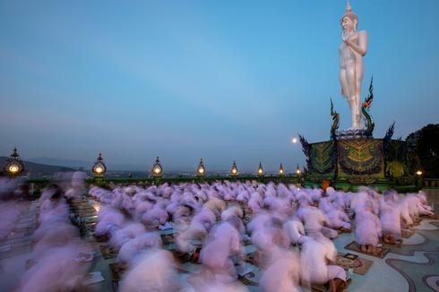 Celebrating Buddha's birthday
