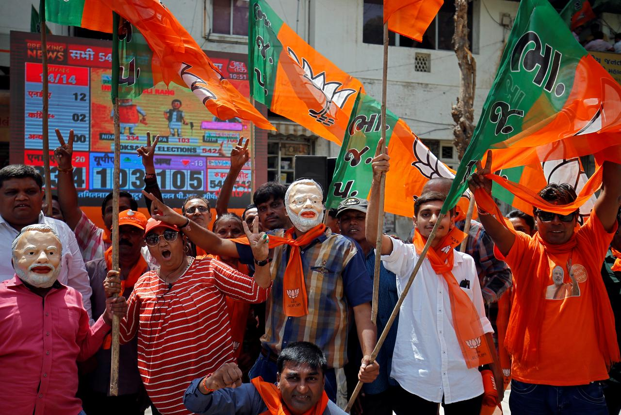 Instant View: India PM Modi's party storms to thumping