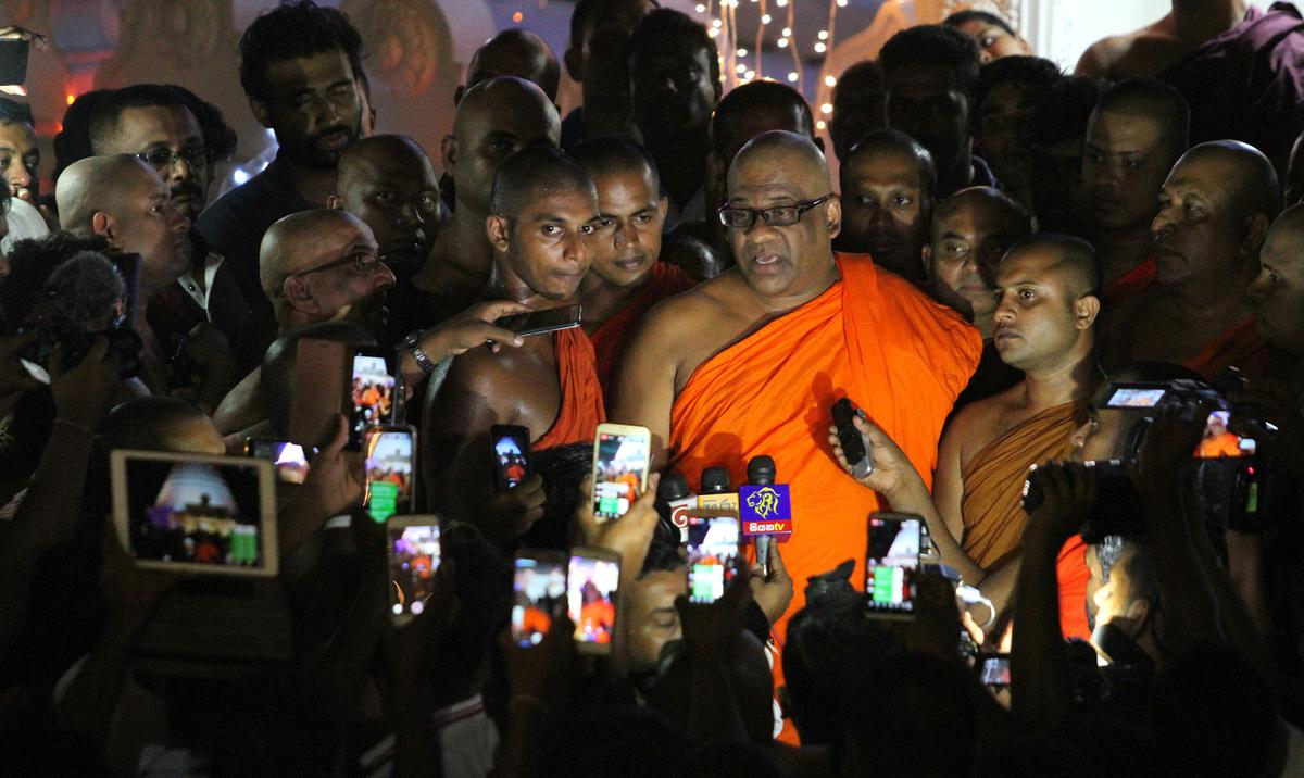 Sri Lanka's hardline Buddhist monk walks out of jail after pardon