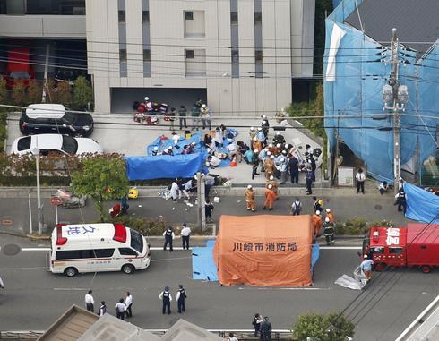 Schoolgirls slashed at Japan bus stop