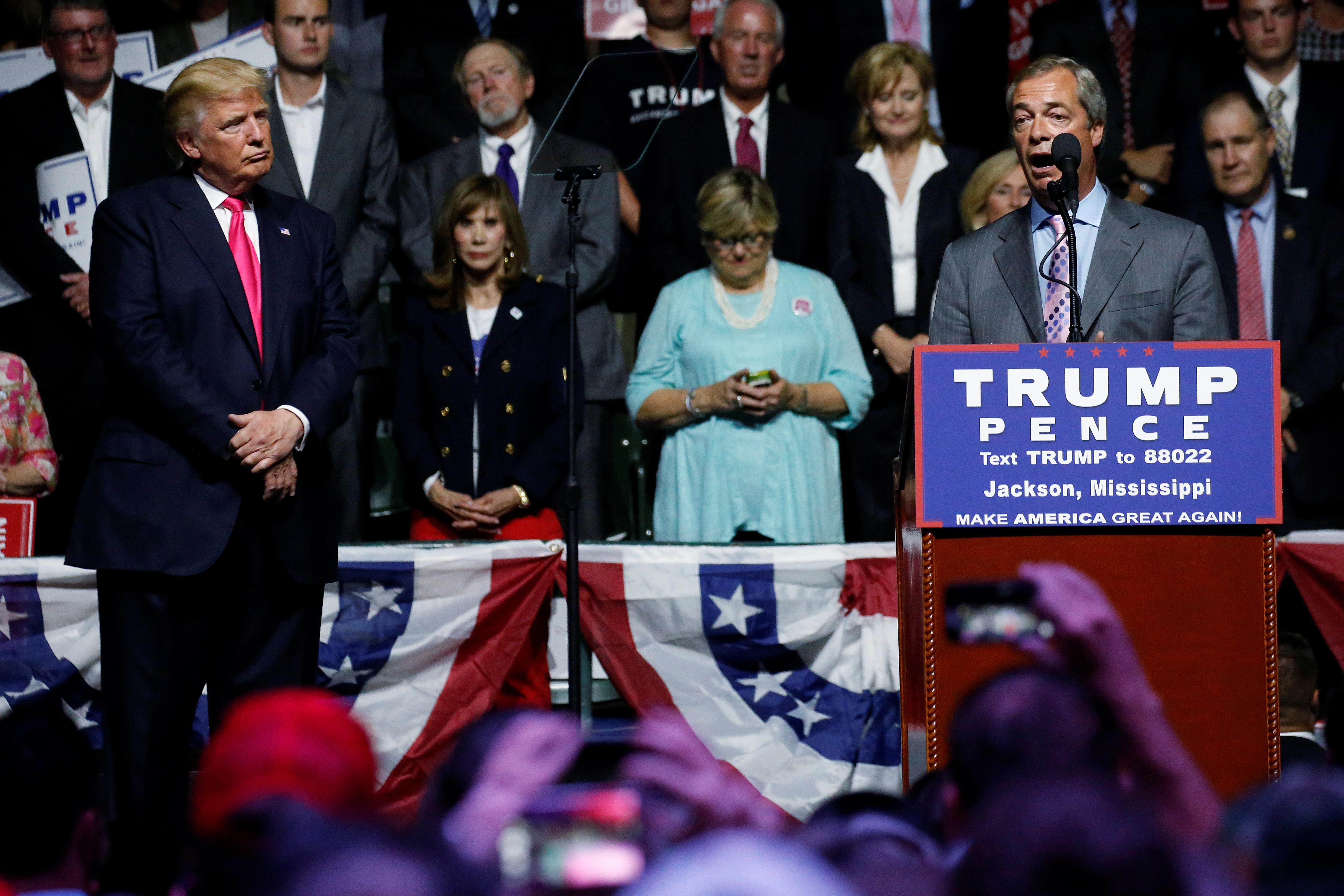 Ahead of UK visit, Trump praises Brexit-supporting 'friends' Johnson and Farage