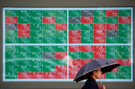 GLOBAL MARKETS-Asian shares fall as weak data inflames growth fears