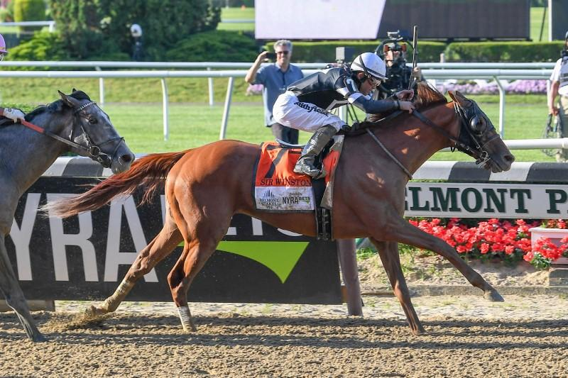 Horse racing: Sir Winston wins 151st Belmont Stakes in upset