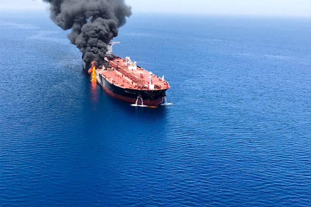 U.S. blames Iran for attack on oil tankers, Tehran calls accusation alarming