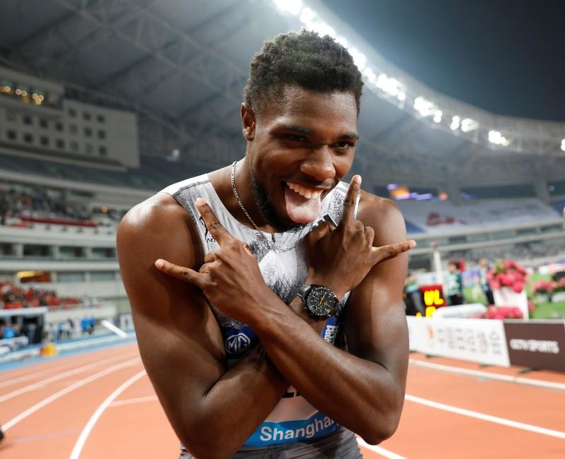 Athletics: Lyles gets break from uncalled false start to run fast 150