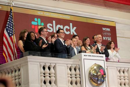 Slack stock surges at debut, values company at more than $25 billion