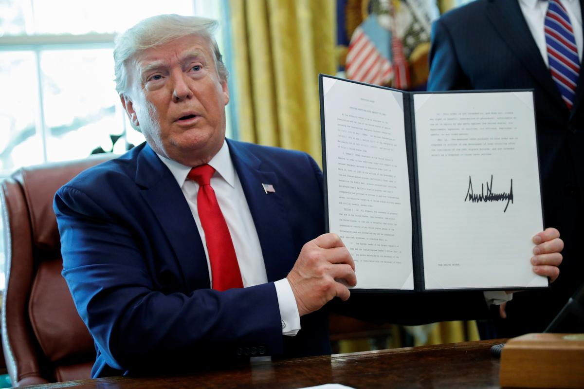 Trump imposes new U.S. sanctions on Iran's supreme leader, other...