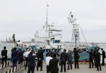 Ships set off in Japan's first commercial whale hunt in more than 30 years