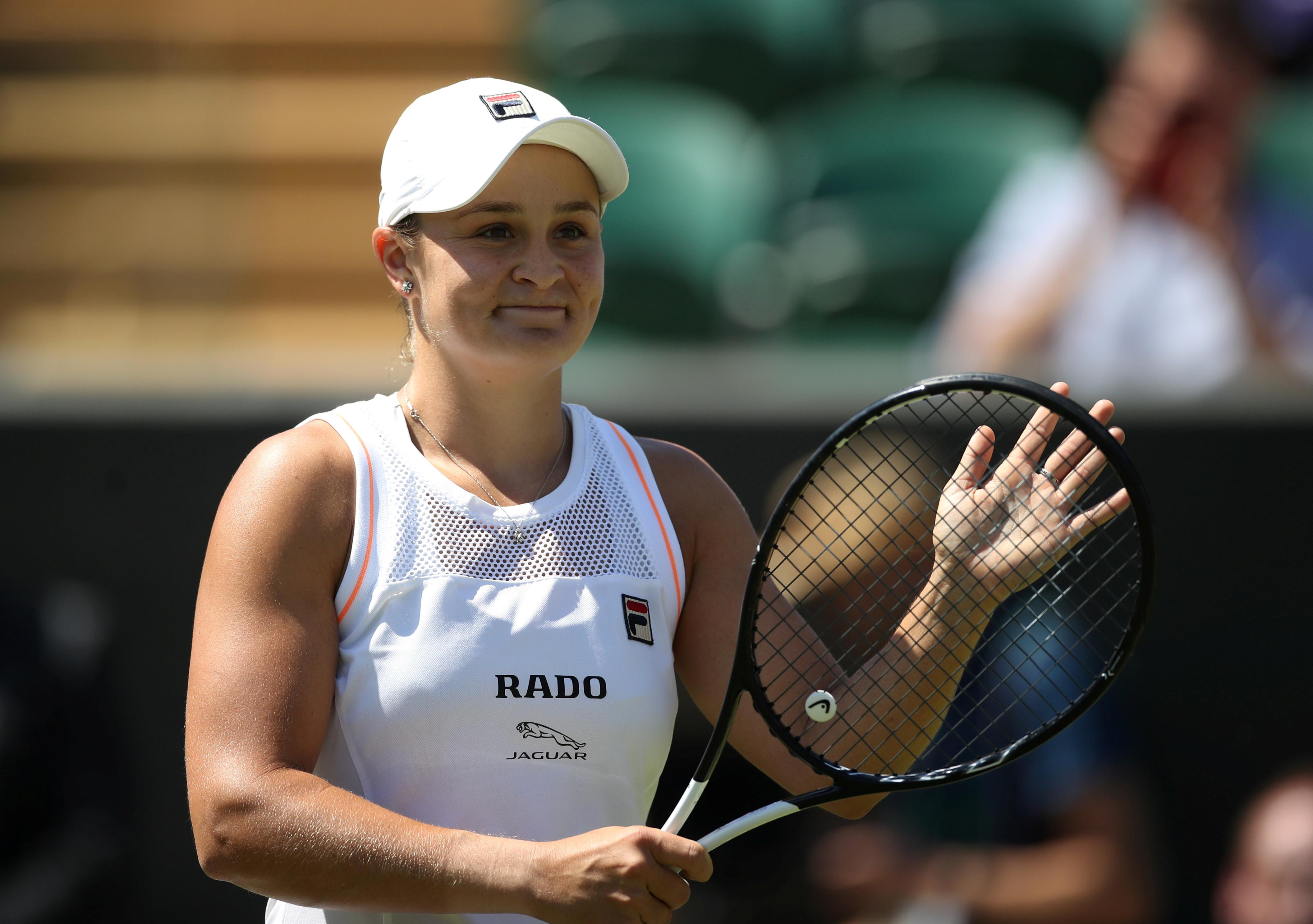 Tennis: Barty cheered on by Aussie fans on distant Court Two