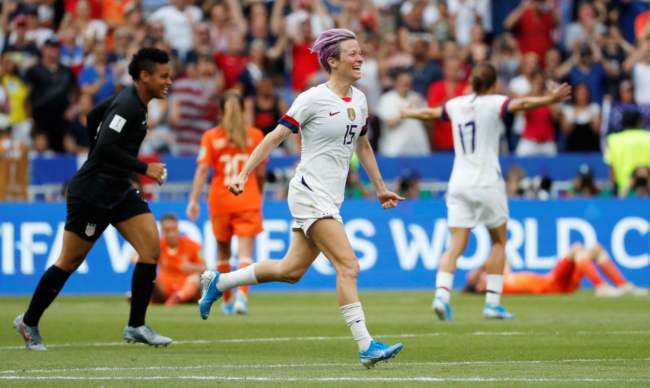 Image result for USA beat Netherlands to win 2019 Women's World Cup