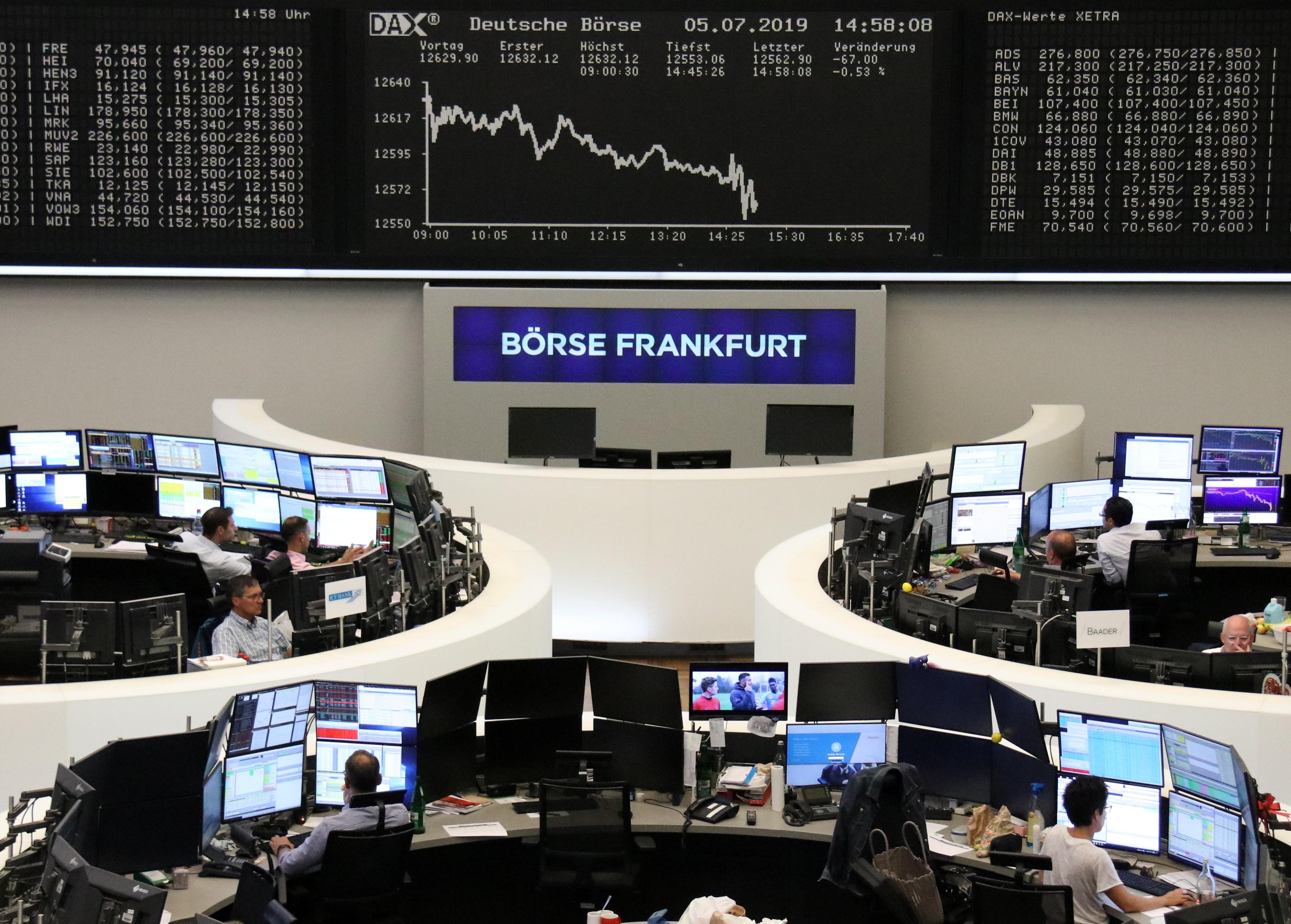 German shares drag Europe lower as BASF profit warning bites