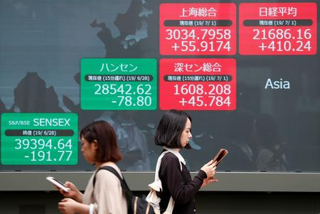 Asian shares dart between gains and losses before key China data