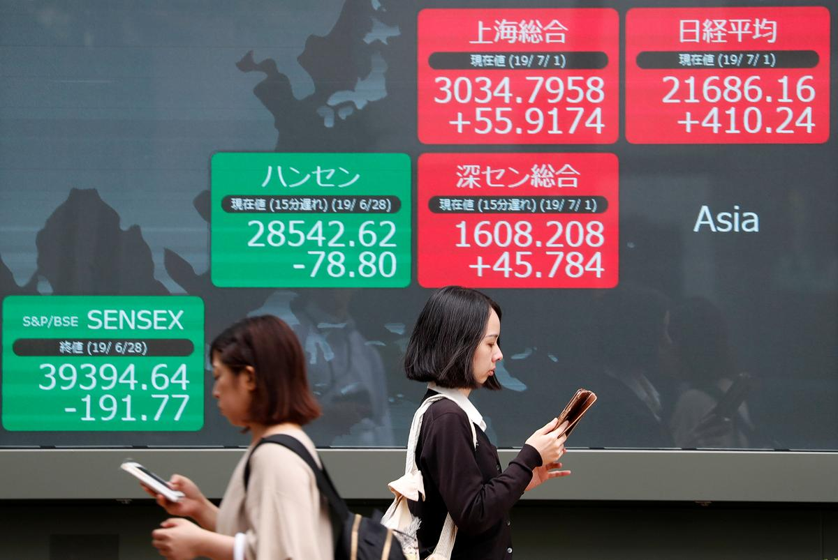 Asian shares veer between gains and losses before key China data