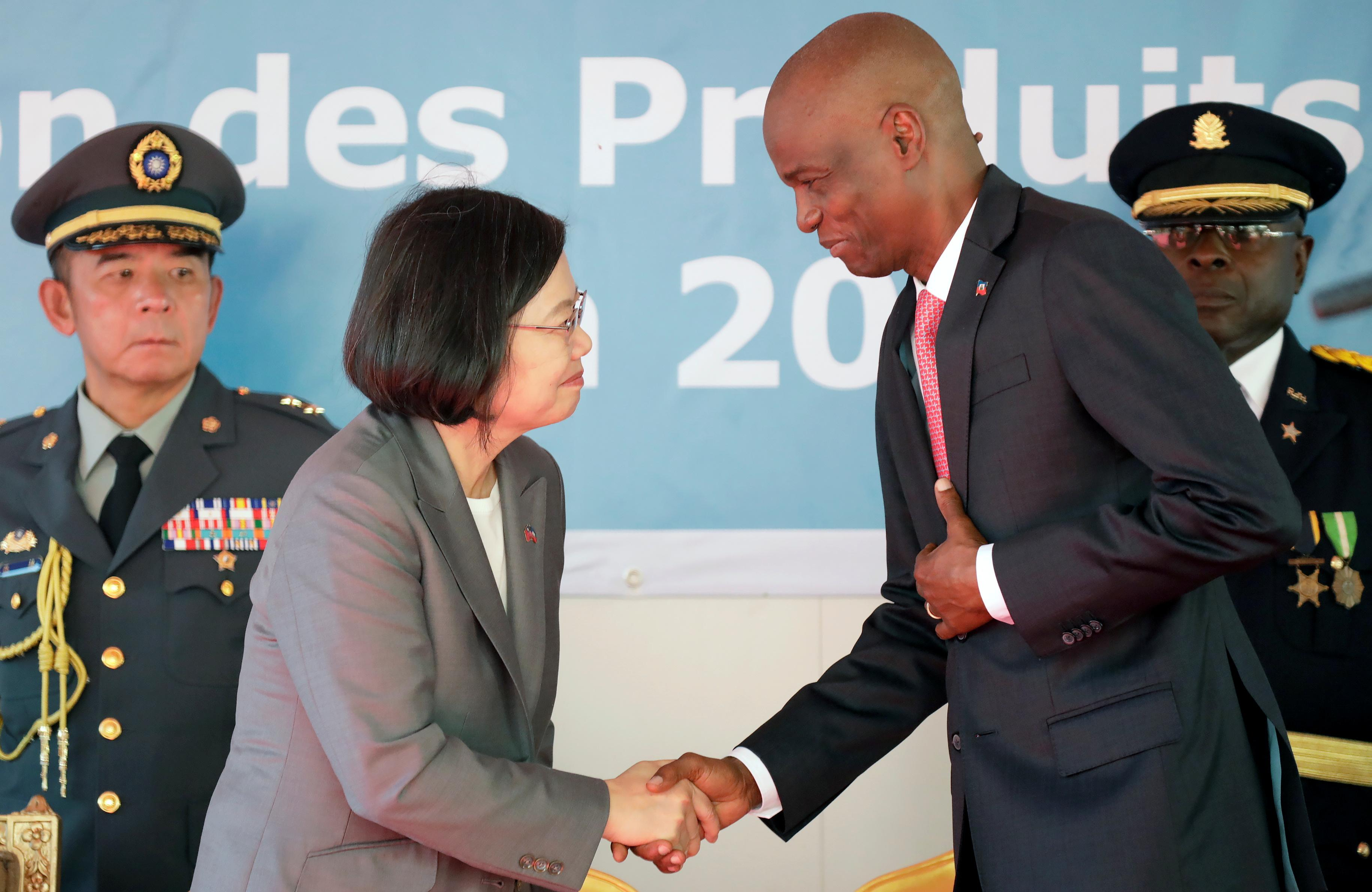 Taiwan president travels to Haiti to bolster relations in the region